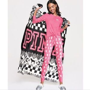 Victoria's Secret pink blanket throw